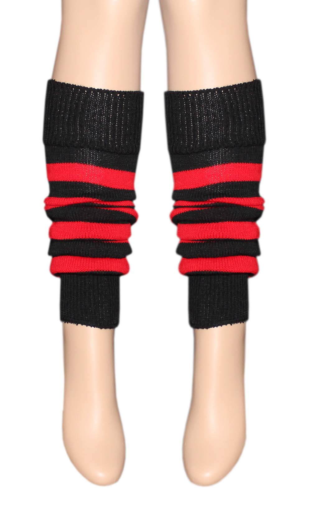 Girls Black U0026 Red Stripe Girls Leg Warmer