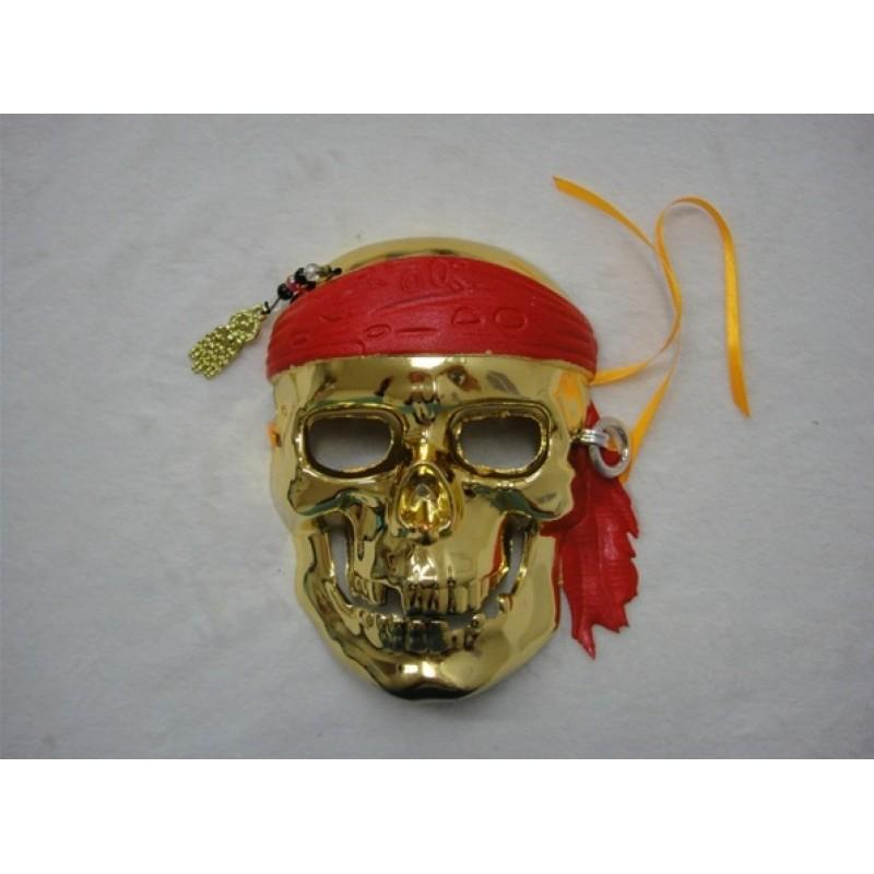 Gold Pirate Skeleton Masquerade Mask