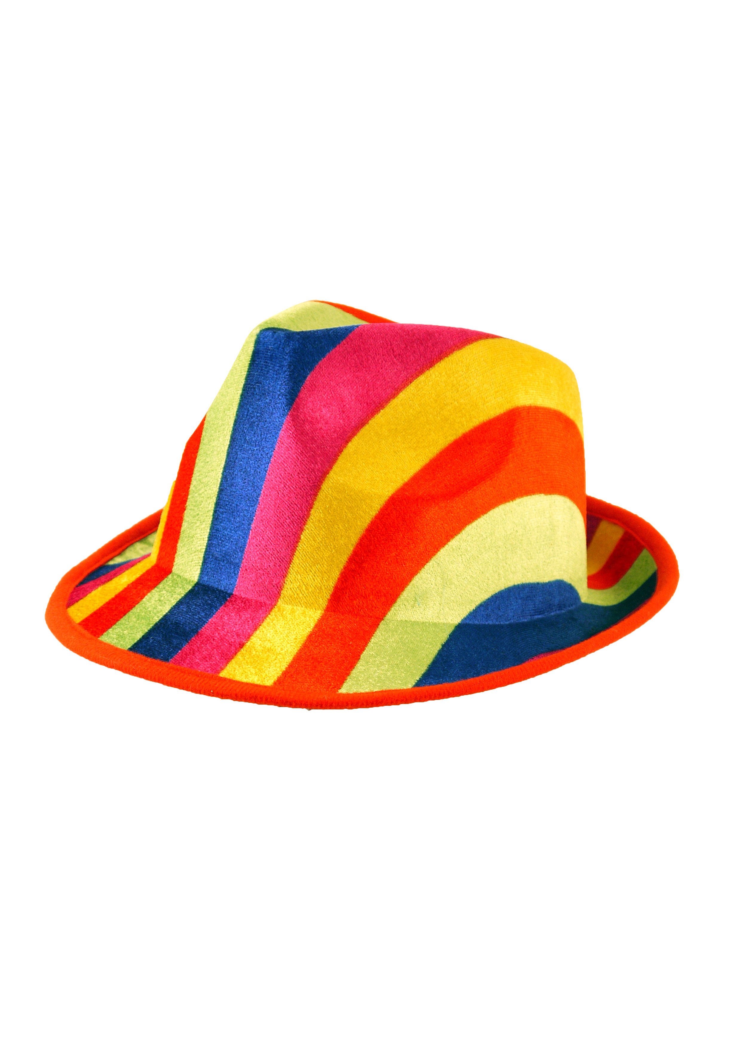 Hat Gangster Rainbow Adult