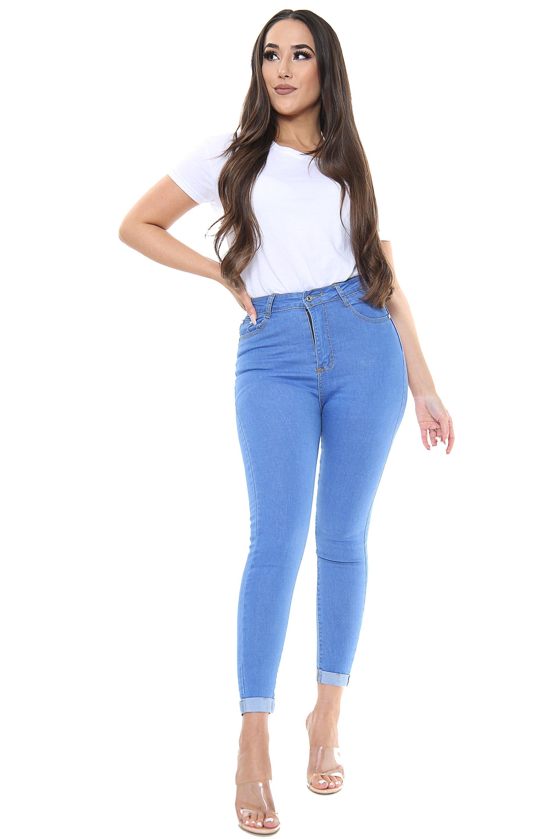 High Waisted Plain Jean