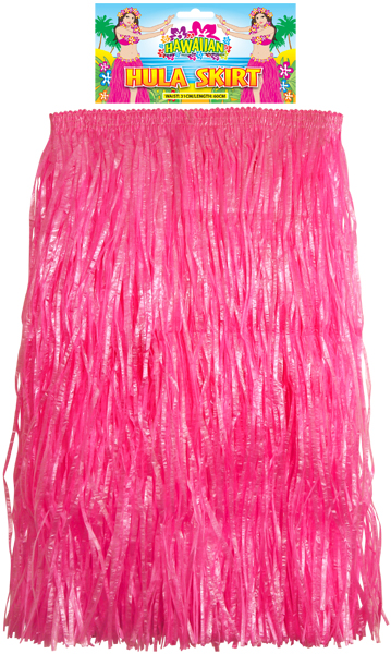 Hula Skirt Hot Pink 60cm(L)