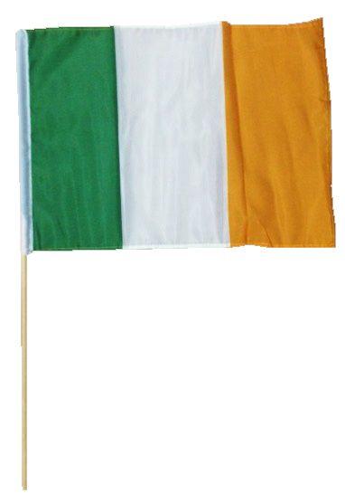 Ireland Flag 30X45cm with Wood Stick