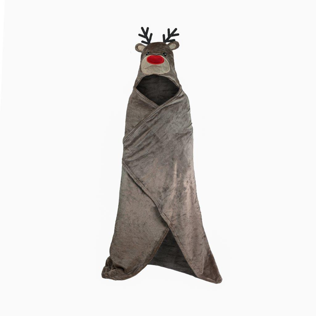 Kids Rudolph Hooded Throw