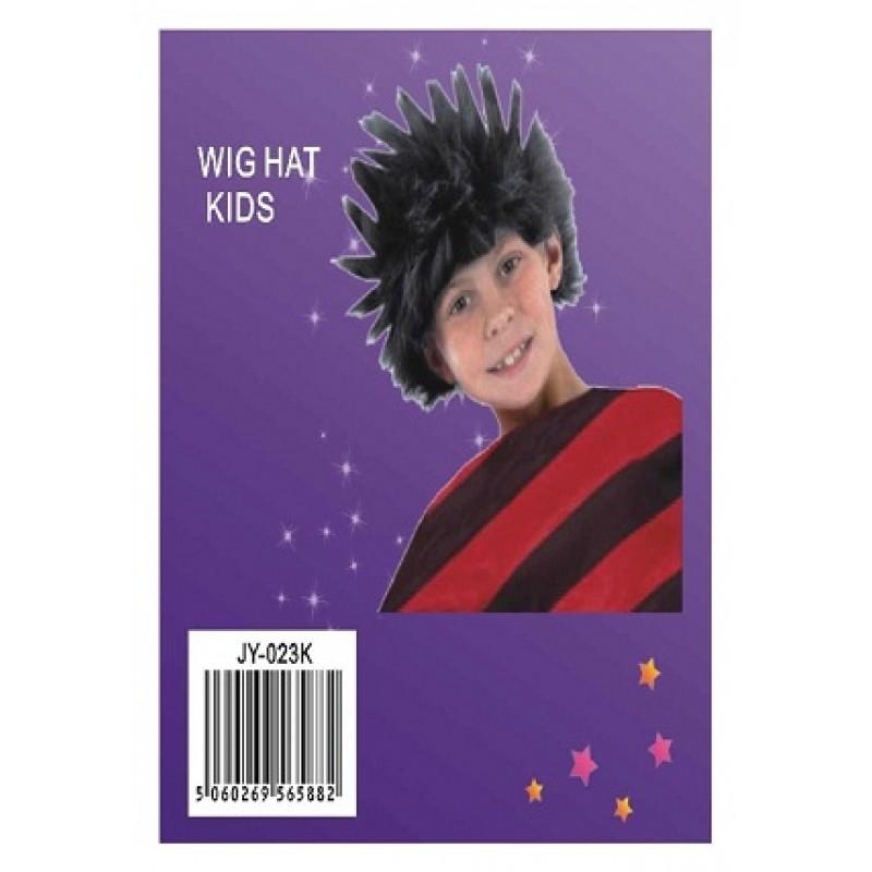 Kids Scrufy Wig Black