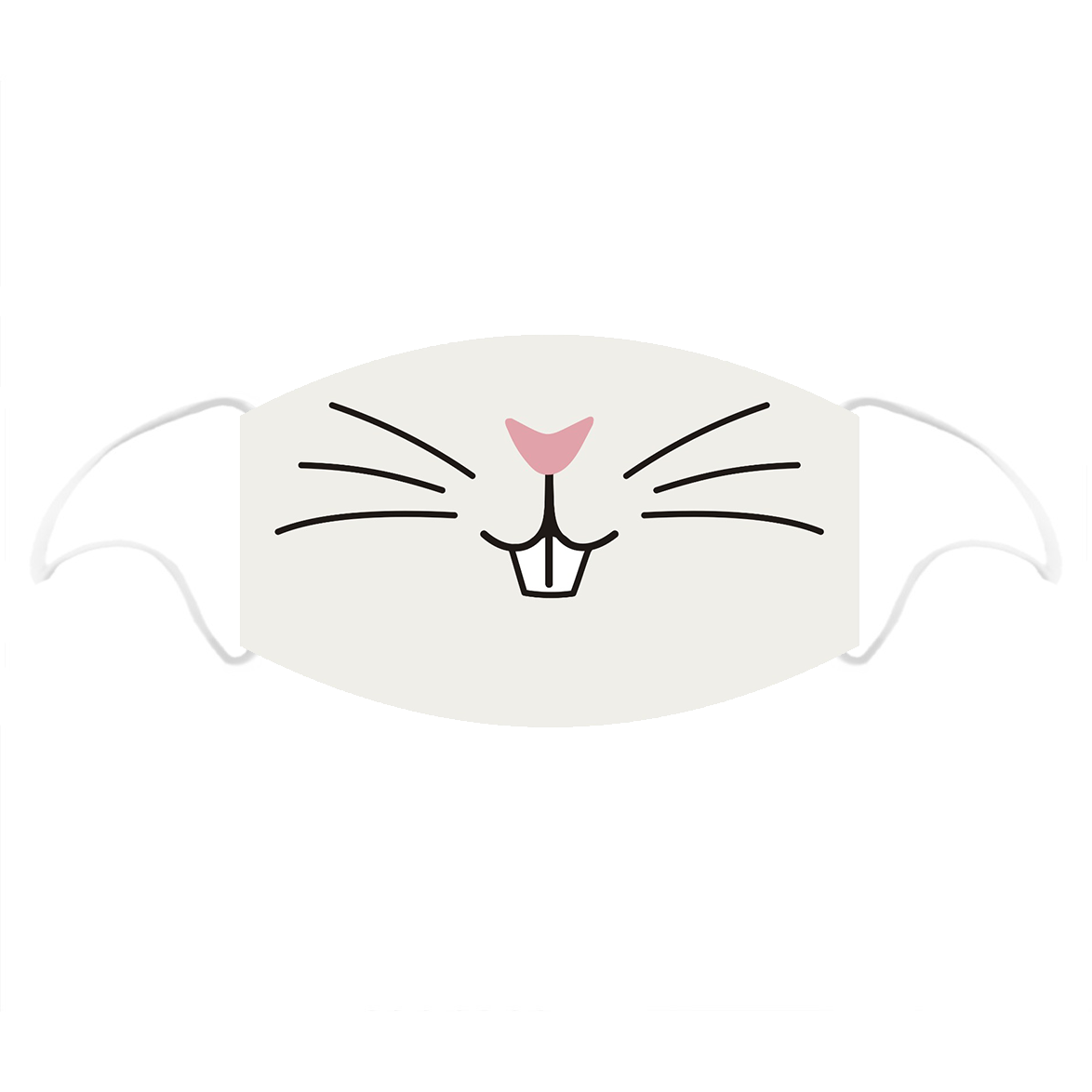 Kitty Printed Cotton Face Mask With Filter Pocket