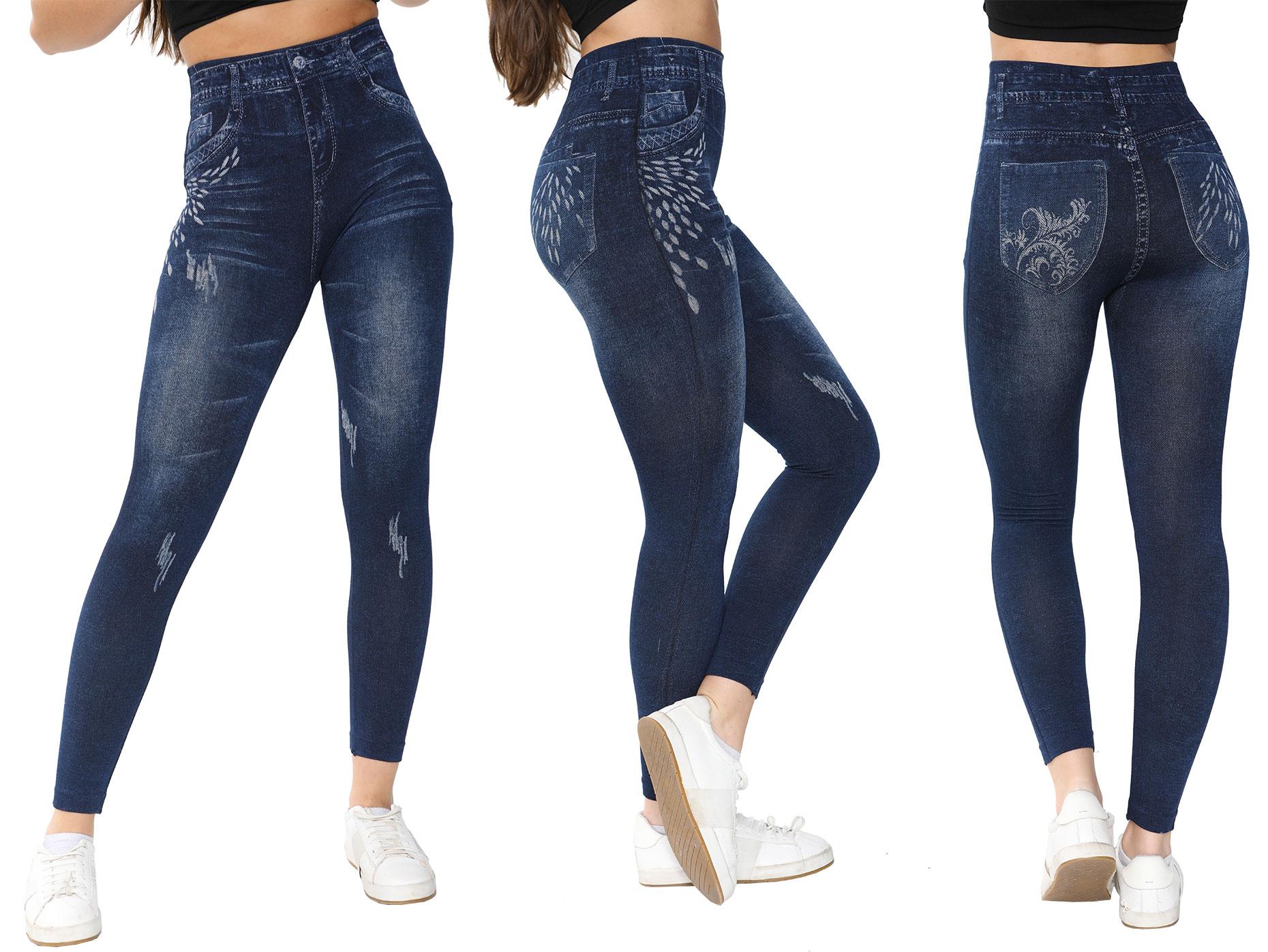 Ladies Denim Fashion Leggings