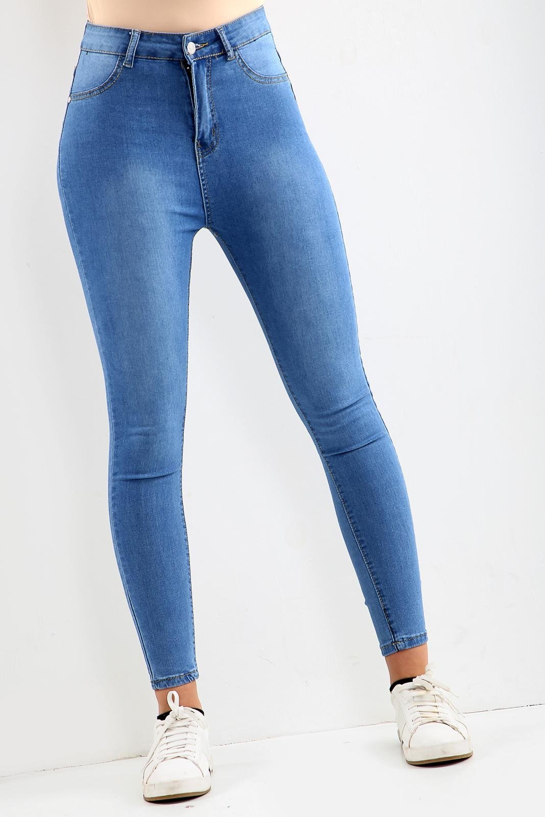 LADIES HIGH WAISTED Blue JEANs