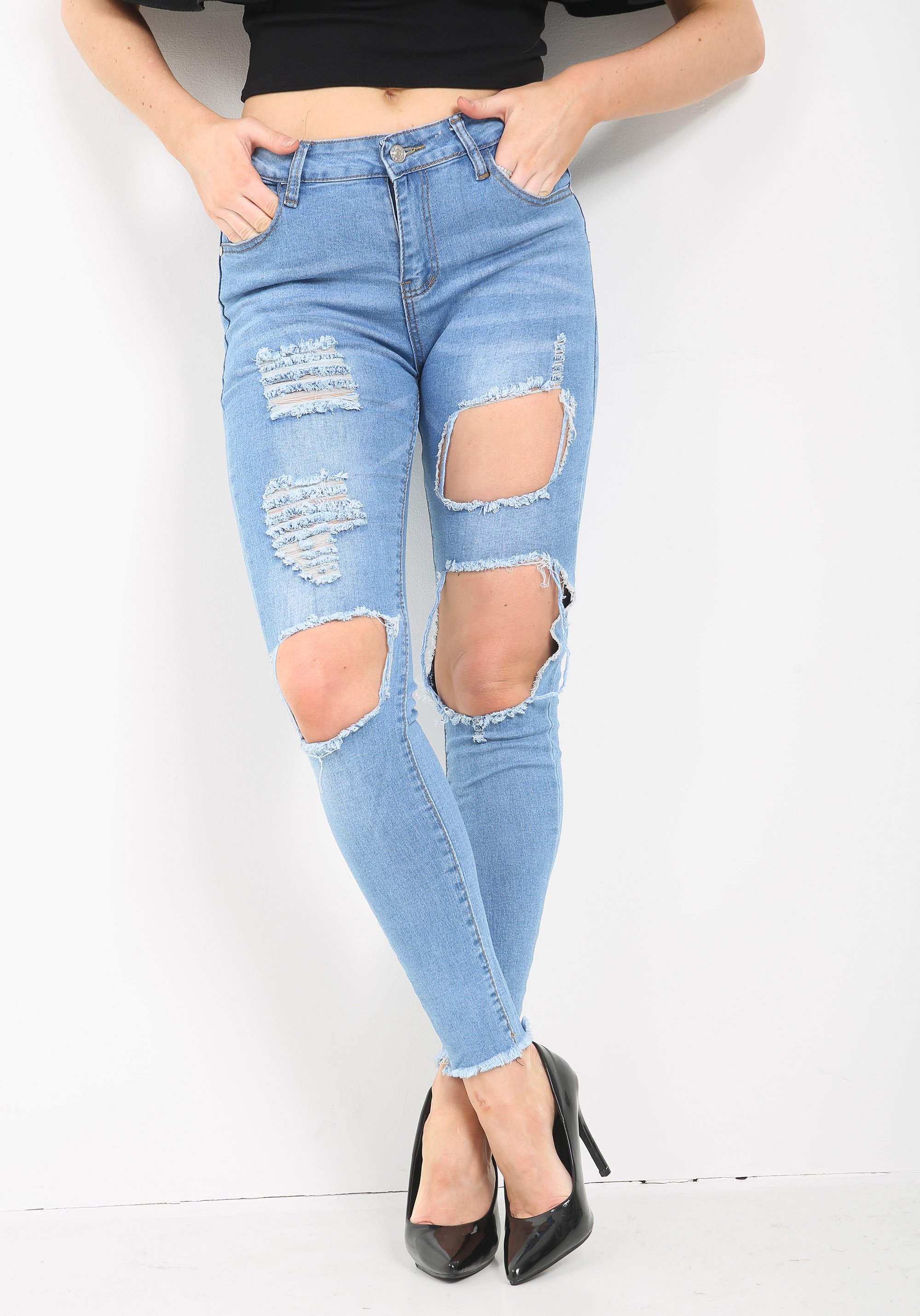 LADIES HIGH WAISTED JEANS