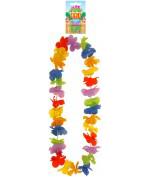 12 Pcs Lei Hula Multi Colour Petal 100cm