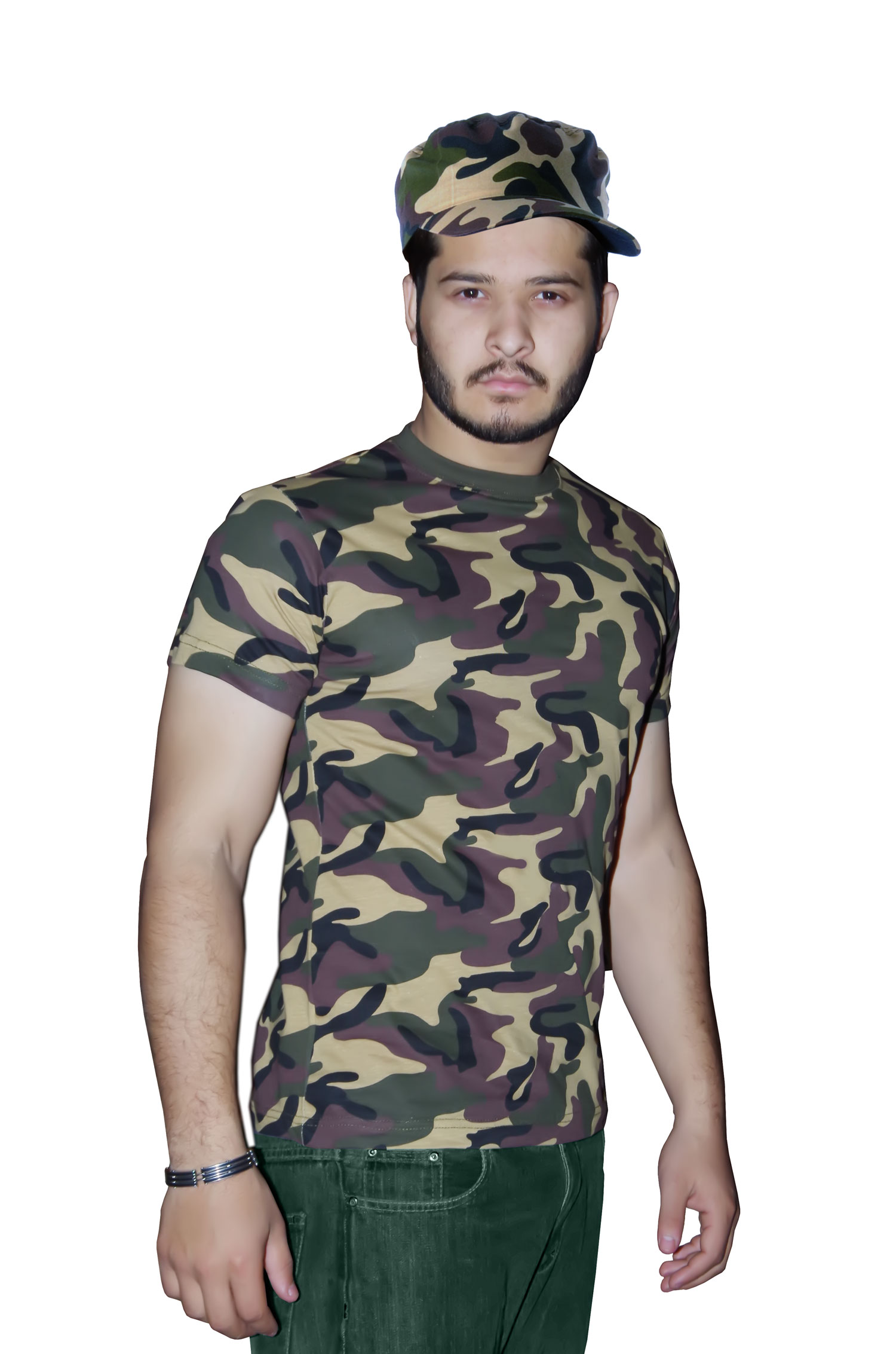 Men Army T-Shirt Camouflage