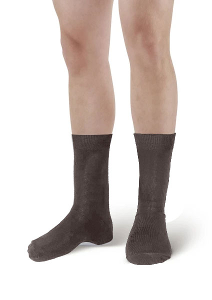Mens Dark Brown Ankle High Socks(12 Pairs)