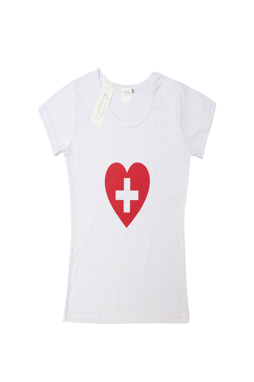 Nurse Heart Printed Vest Top