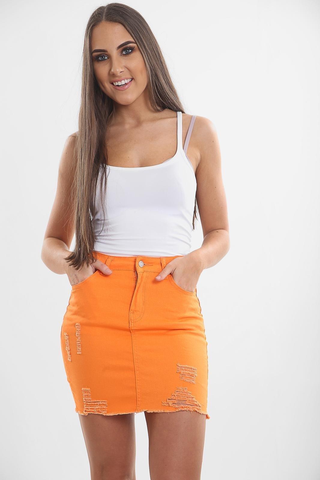 Orange Ladies Skirt