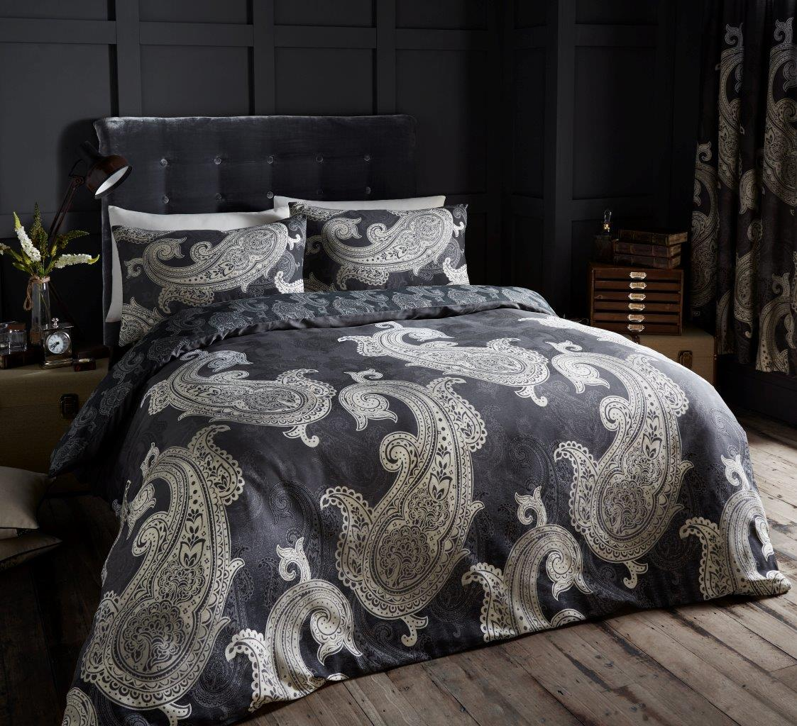 Paisley Duvet Cover Double Black And Teal Duvet Covers