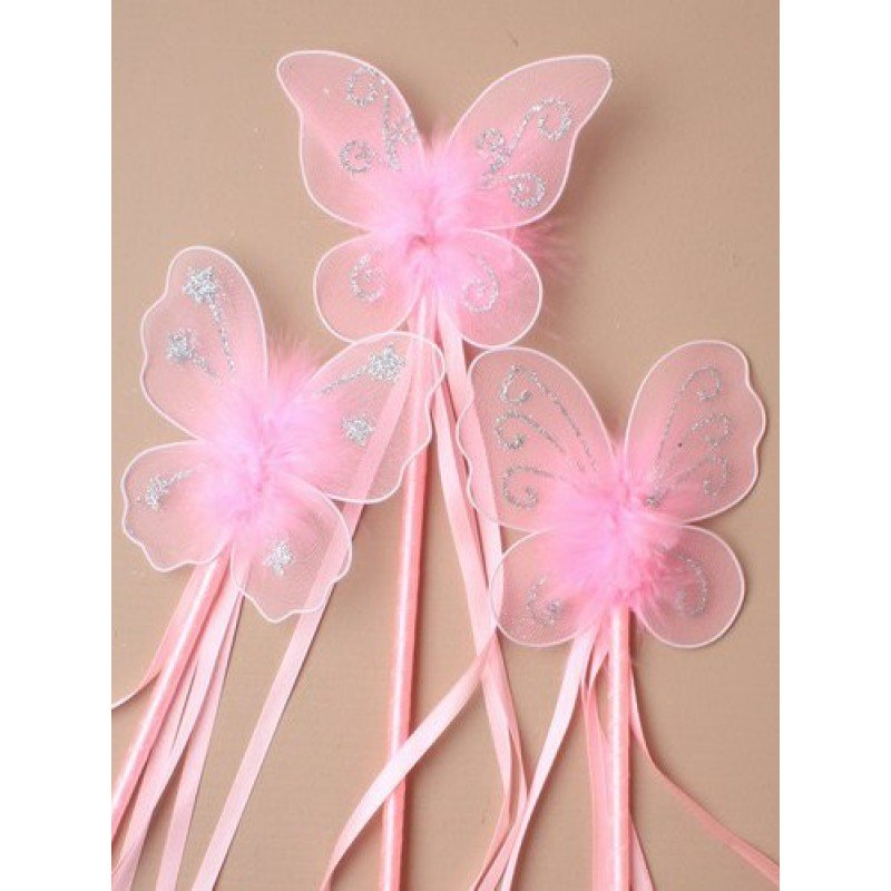 Pink butterfly wand for Butterfly wands wholesale