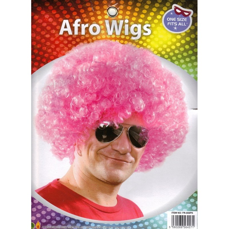 Pink Afro Wig