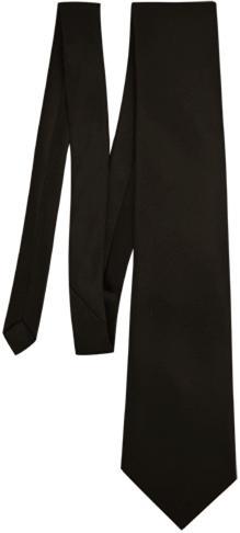 Satin Plain Black Neck Tie