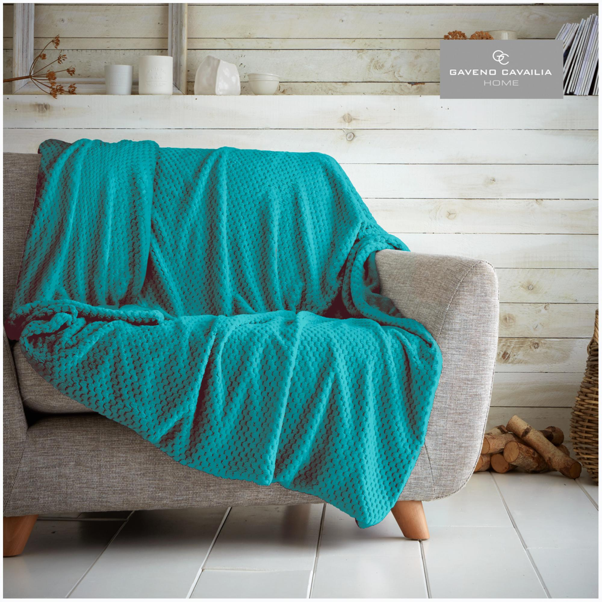 POP CORN THROW TEAL