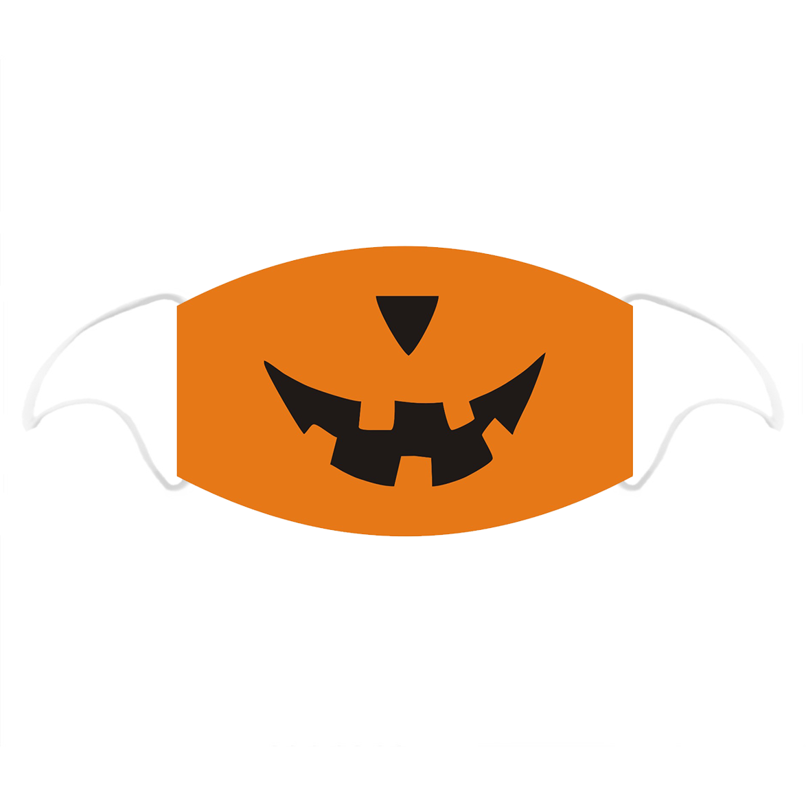 Pumpkin Printed Cotton Face Mask With Filter Pocket