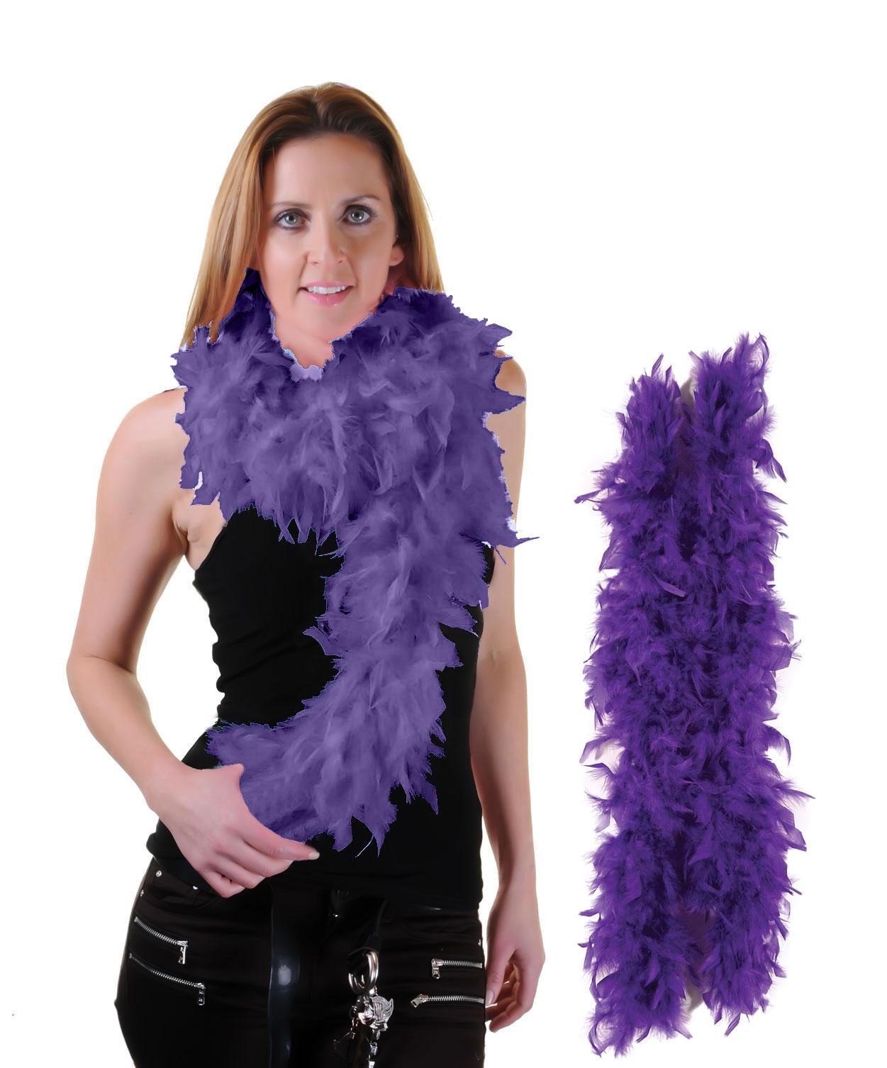 Purple Feather Boa High Quality