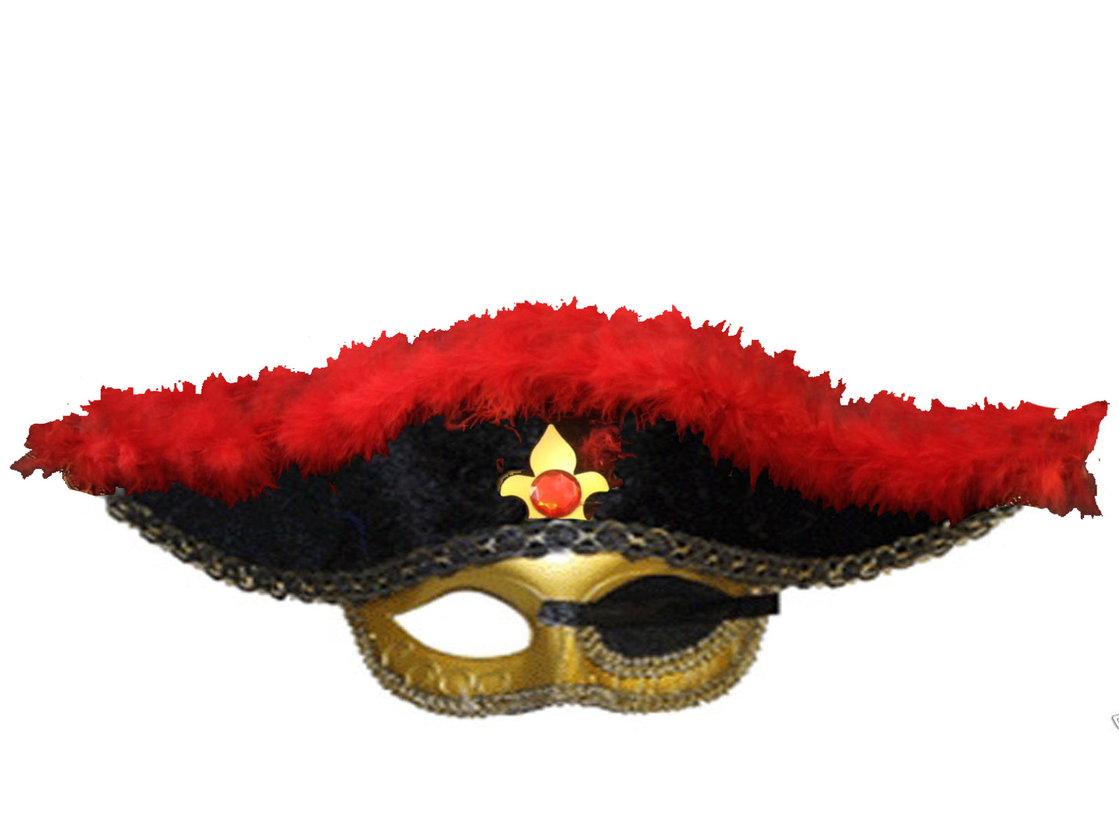 Red Pirate Eye Mask