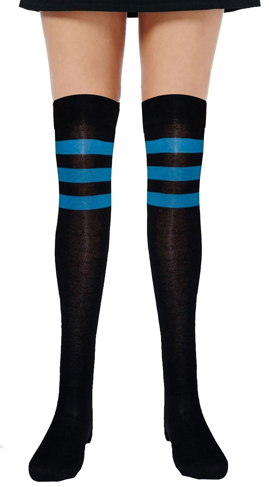 Referee Black and Blue OTK Socks (12 Pairs)