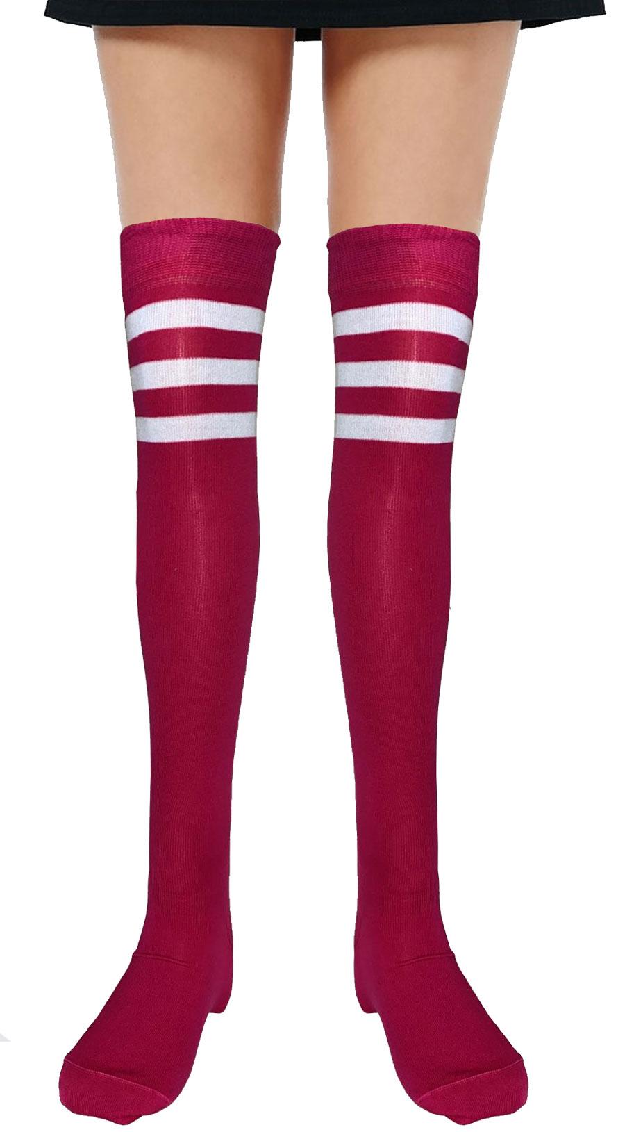 Referee Pink and White OTK Socks (12 Pairs)