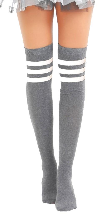Referee White and Grey OTK Socks (12 Pairs)