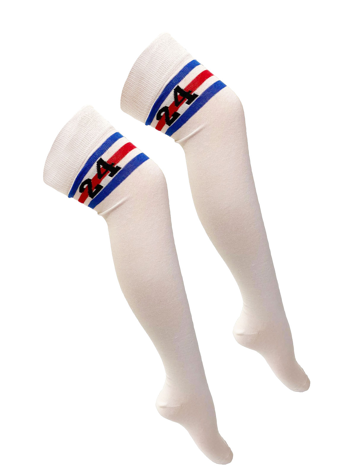 Referee White and Red /Blue with 24 OTK Socks (12 Pairs)