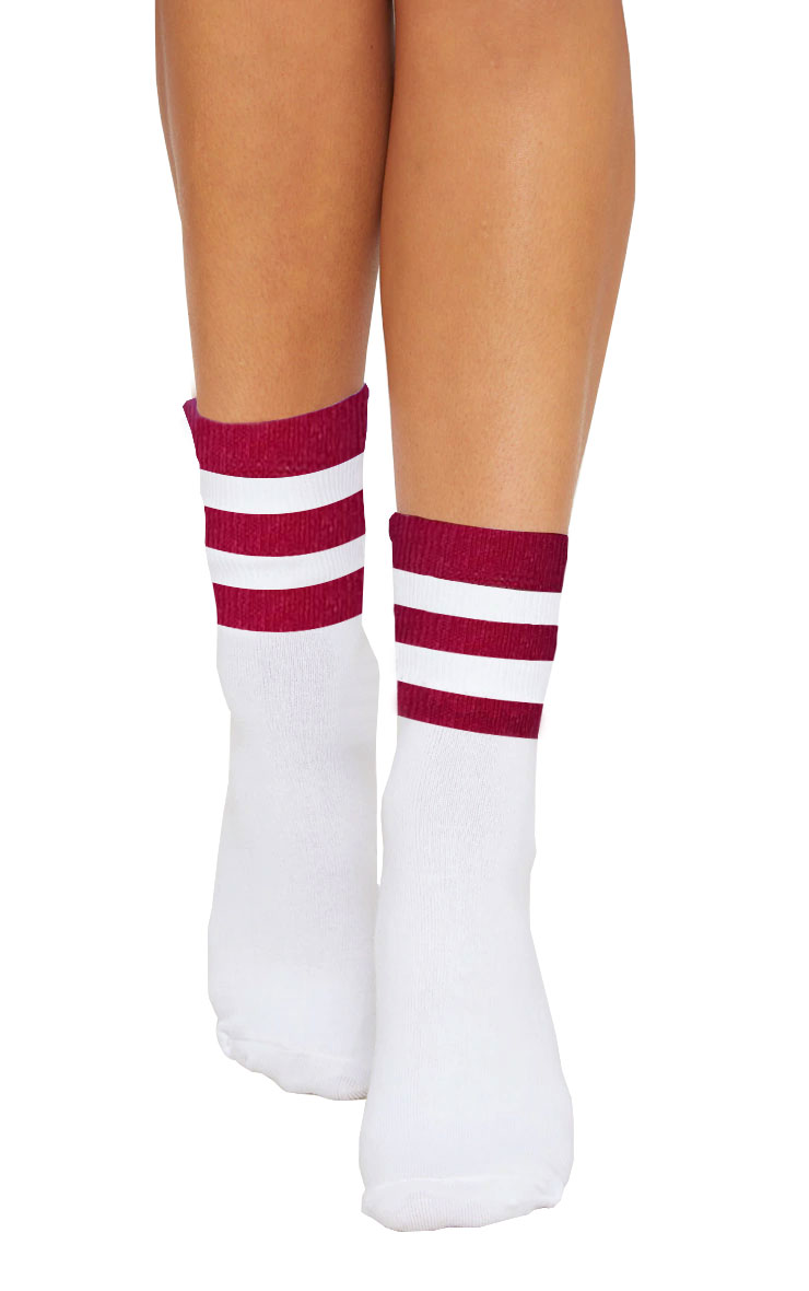 Referee White Pink Ankle Socks(12 Pairs)