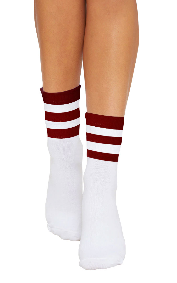 Referee White Red Ankle Socks(12 Pairs)