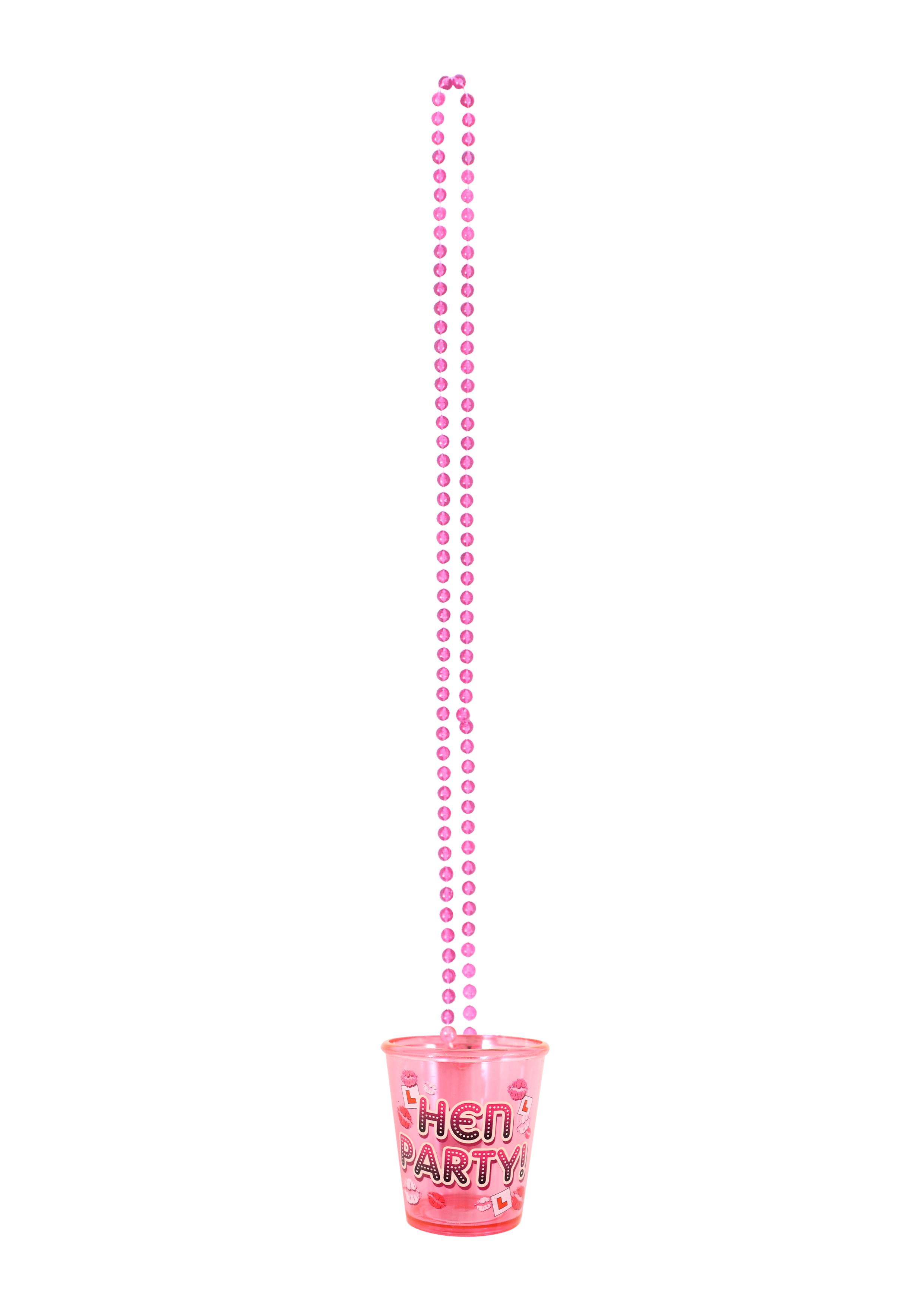 Shot Glass Hen Party W/84cm Necklace
