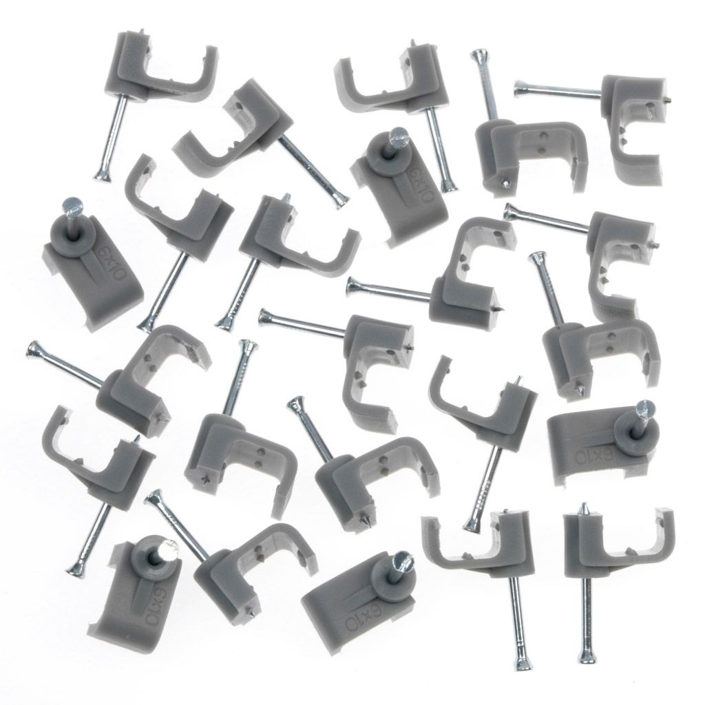 SupaLec Cable Clips Flat Pack 20 - 6mm