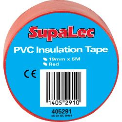 SupaLec PVC Insulation Tapes - Red 5 Metre Pack 10