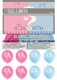 12 Inches Gender Reveal Balloons (Pack of 8)