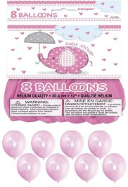 12 Inches UmbrellaPhants Pink Petal Balloons (Pack of 8 )