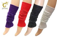 12 Pairs Assorted Lurex Leg Warmer (Adult)