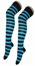 Black & Turquoise OTK Stripes Socks (12 Pairs)
