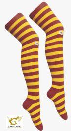 Maroon & Yellow OTK stripe socks (12 Pairs)