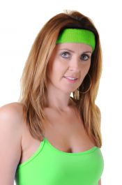 Neon Green Toweling Head Band (12 PCs)