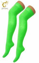 Plain Lycra Green OTK Socks (12 Pairs)