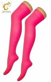 Plain Lycra Pink OTK Socks (12 Pairs)