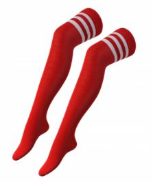 Referee Red and White OTK Socks (12 Pairs)