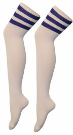 Referee White and Blue OTK Socks (12 Pairs)