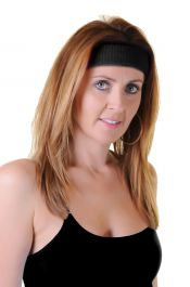 Black Toweling Head Band (Pack of 12)