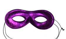 Purple Domino Shape Cloth Eye Mask