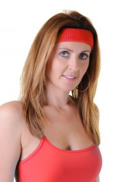 Red Toweling Head Band (Pack of 12)