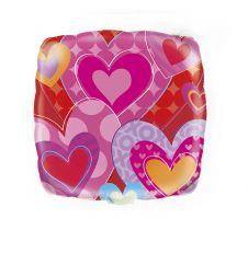 18 Inch I Heart Valentine Square Foil Balloon