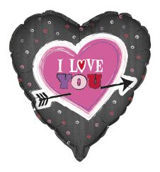 18 Inch I Love You Arrow Heart Foil Balloons