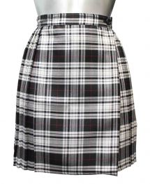 18 Inches Black Wrap Over Tartan Skirt
